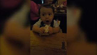 Baby Feels Dough For The First Time - Video