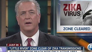 Another Zika zone cleared cleared in Miami - Video
