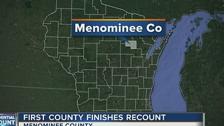 Menominee County first county to finish recount - Video