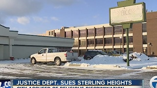 Federal government suing City of Sterling Heights over mosque build denial - Video