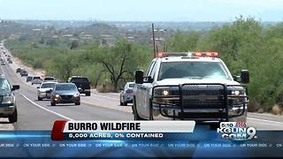Evacuations ordered for Mt Lemmon, The Burro Fire is zero percent contained - Video