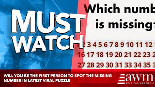 Will You Be The First Person To Spot The Missing Number In Latest Viral Puzzle - Video