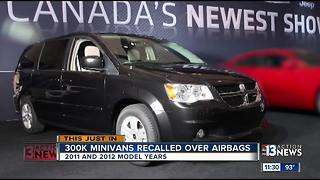 Dodge minivans recalled; air bag can inflate unexpectedly - Video