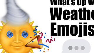 What's up with weather emojis?