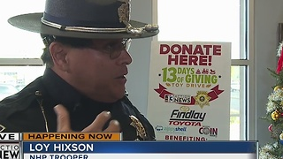 NHP Trooper Hixson talks about 13 Days of Giving and car seat safety - Video