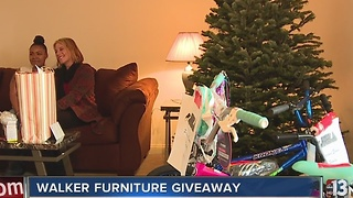 Single mother of four receives all new furniture from Walker Furniture - Video