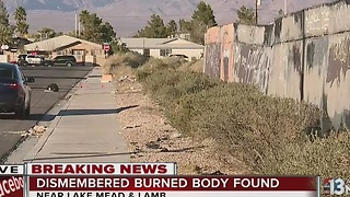 Burned body found near Lake Mead, Lamb - Video