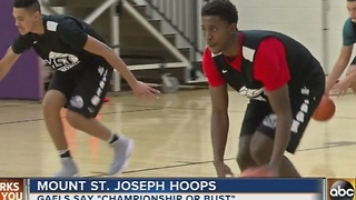Mount St. Joseph's looking ahead to possible basketball championship - Video