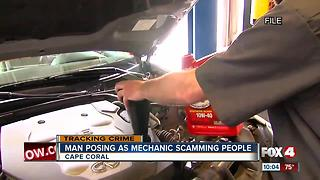 Fake mechanic scamming people in parking lots - Video
