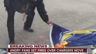 Fan emotions run high as Chargers make decision to bolt San Diego - Video