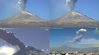 Mexico's Popocatépetl Volcano Spews Hot Ash and Gas During Weekend Eruption - Video