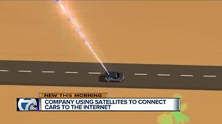 Company using satellites to connect cars to the internet
