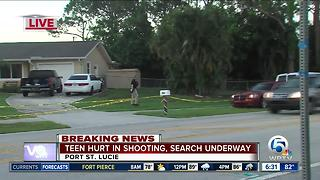 Port St. Lucie teen shot while lying in bed - Video