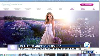 Report: Alfred Angelo Bridal retailer reportedly closing its doors - Video