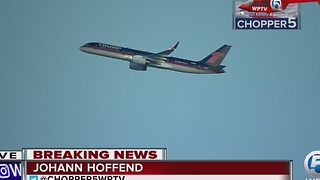 President-elect Donald Trump's plane departs Palm Beach County - Video