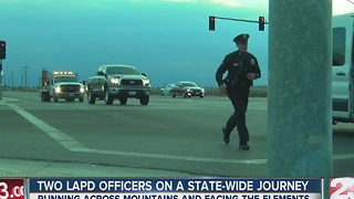 Two LAPD officers on a state-wide journey - Video