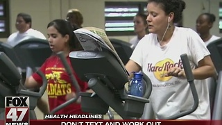 Study: Don't text and workout - Video
