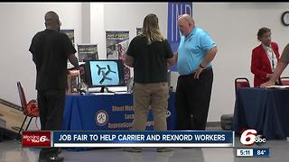 Job fair help Carrier and Rexnord workers - Video
