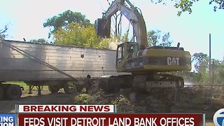 Feds visit Detroit Land Bank office - Video