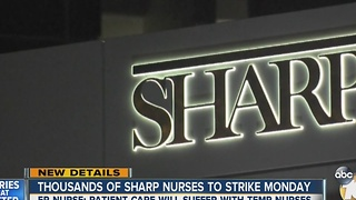 Thousands of Sharp nurses to strike Monday - Video