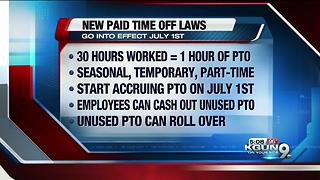 New paid time off rules effective this summer in Arizona - Video