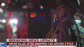 Driver killed after wrapping car around a pole near Lindbergh Field