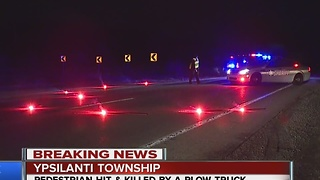 Pedestrian hit and killed by plow truck driver - Video