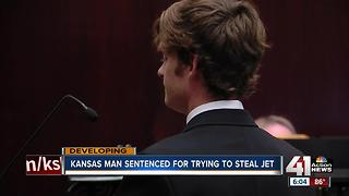 Kansas man sentenced for trying to steal jet - Video