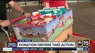 Donation drivers taking action in Cave Creek