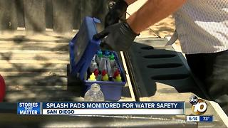 San Diego splash pads monitored for contamination - Video