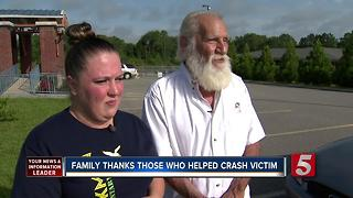 Family Meets First Responders Who Saved Crash Victim - Video