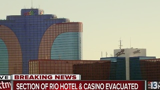 UPDATE: Rio hotel-casino tower evacuated, power out - Video