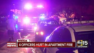 FD: 5 hospitalized after fire at Mesa apartment complex - Video