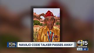 Navajo code talker passes away - Video
