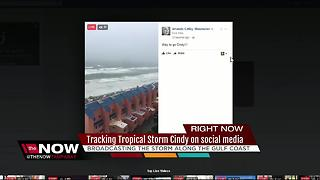 Tracking Tropical Storm Cindy on social media