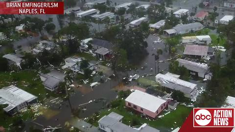 Drone Footage Shows Aftermath Of Hurricane Irma In Naples, Florida
