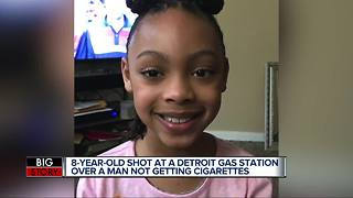 8-year-old girl shot at Detroit gas station over man not getting cigarettes - Video