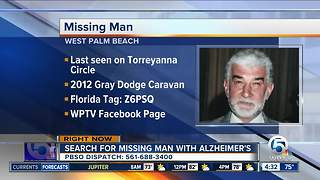 81-year-old man with Alzheimer's missing in Palm Beach County - Video