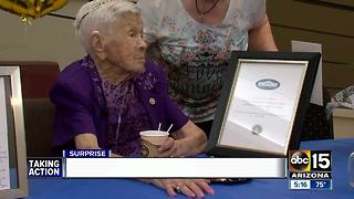 Woman celebrates 107th birthday in Surprise - Video