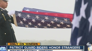 Patriot Guard riders honor strangers - Video