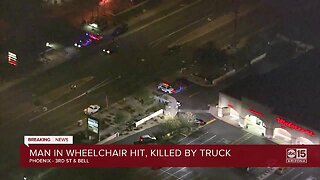 Man in wheelchair hit and killed in Phoenix