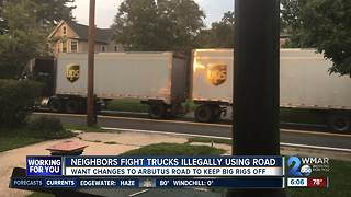 Arbutus neighbors fight big rigs driving on their road illegally
