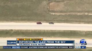 Colorado State Patrol watching from the sky for Labor Day weekend - Video