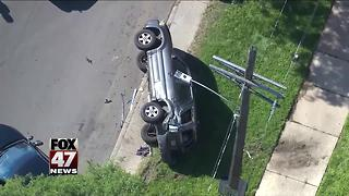 Toddler found safe after chase, crash in Detroit - Video
