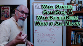 Understanding Wall Street, the Stock Market & the Action on GameStop: WallStreetBets, What it Means
