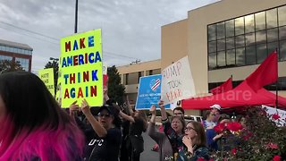 """Protestors chant """"black lives matter"""" outside Chattanooga Republican rally"""