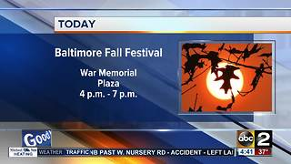 Baltimore mayor kicks off fall festival at City Hall - Video