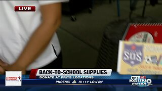 Salvation Army collecting school supplies for back to school drive