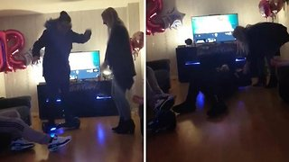 Unlucky Mum Falls Back First Off Hoverboard