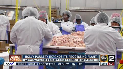 Holly Poultry expands West Baltimore processing plant